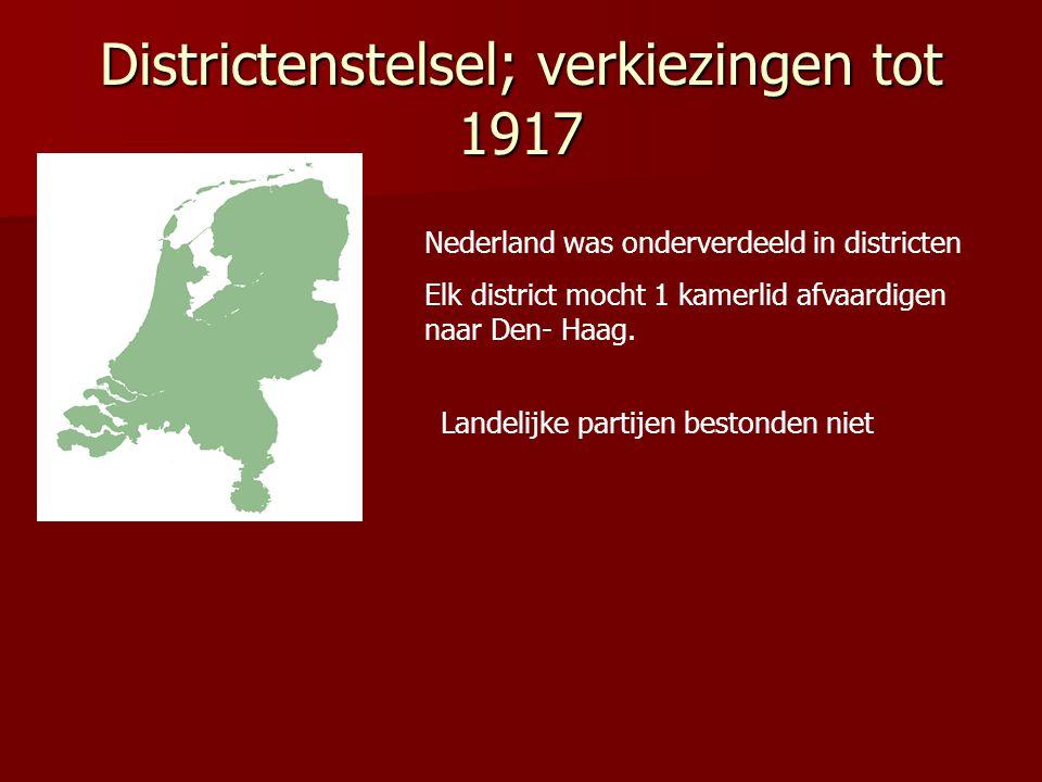 Districtenstelsel; verkiezingen tot 1917