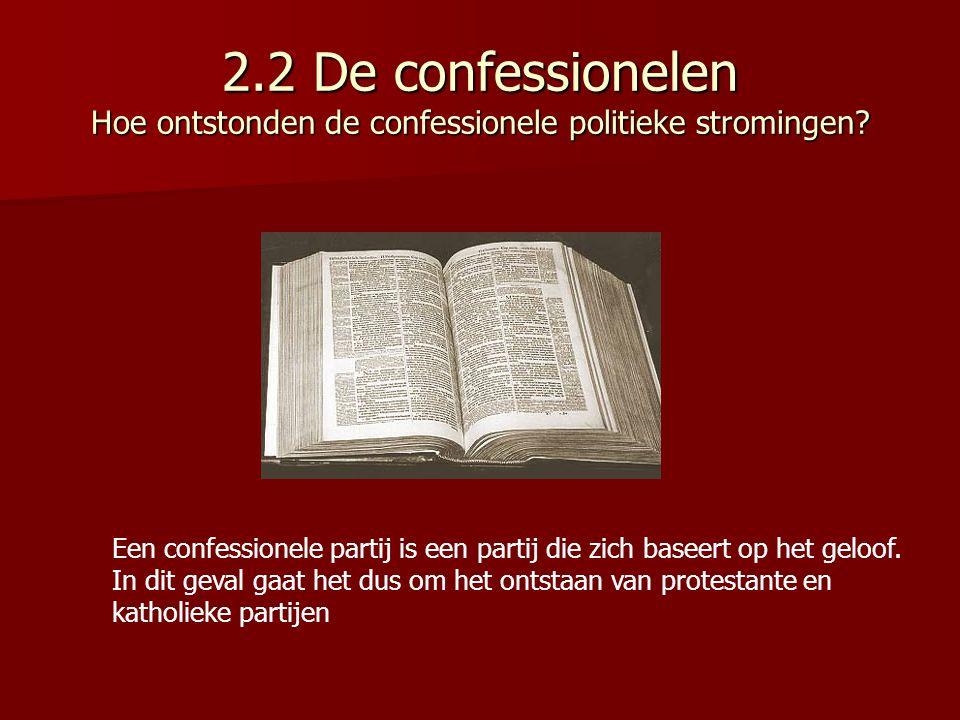 2.2 De confessionelen Hoe ontstonden de confessionele politieke stromingen