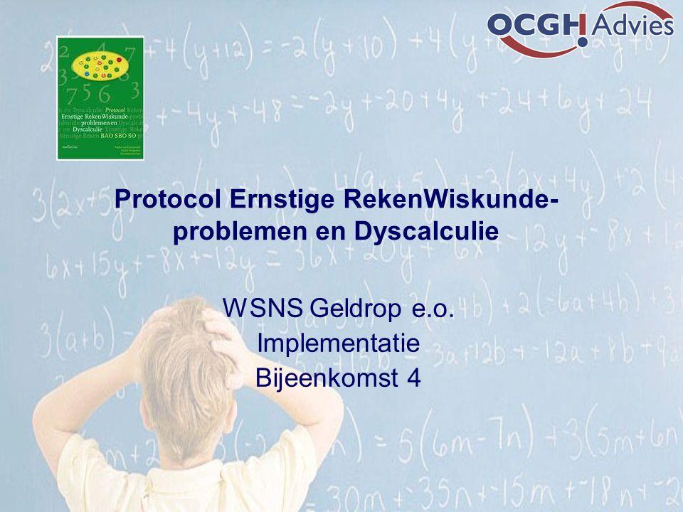 Protocol Ernstige RekenWiskunde-problemen en Dyscalculie