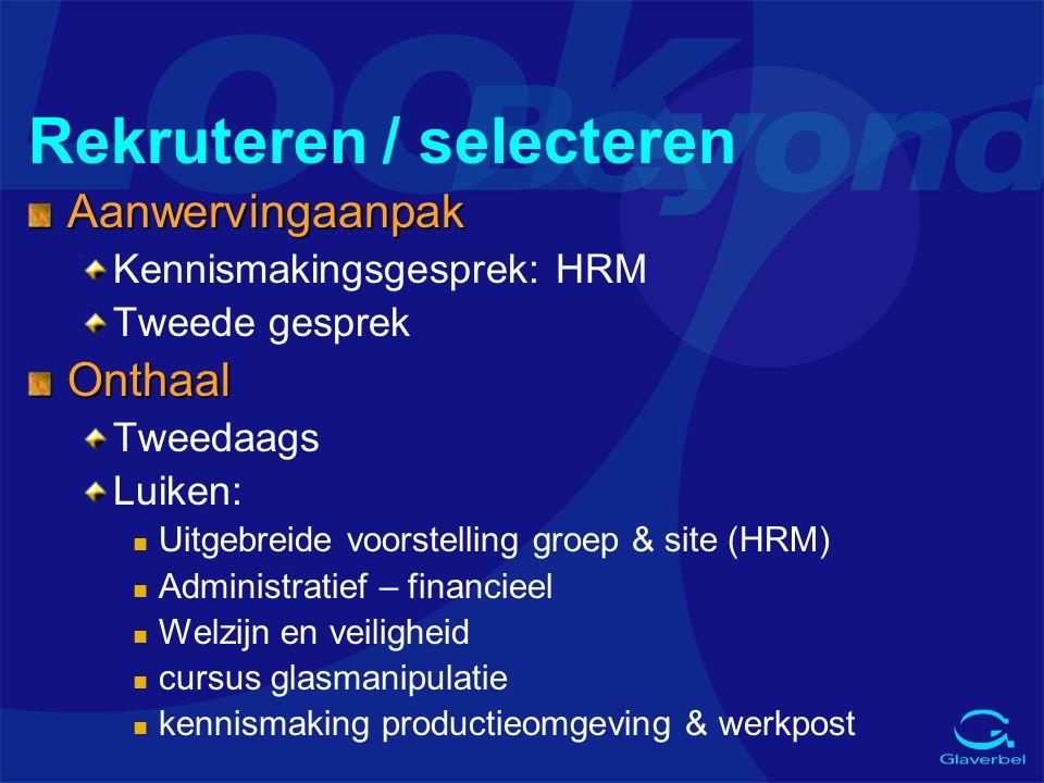 Rekruteren / selecteren