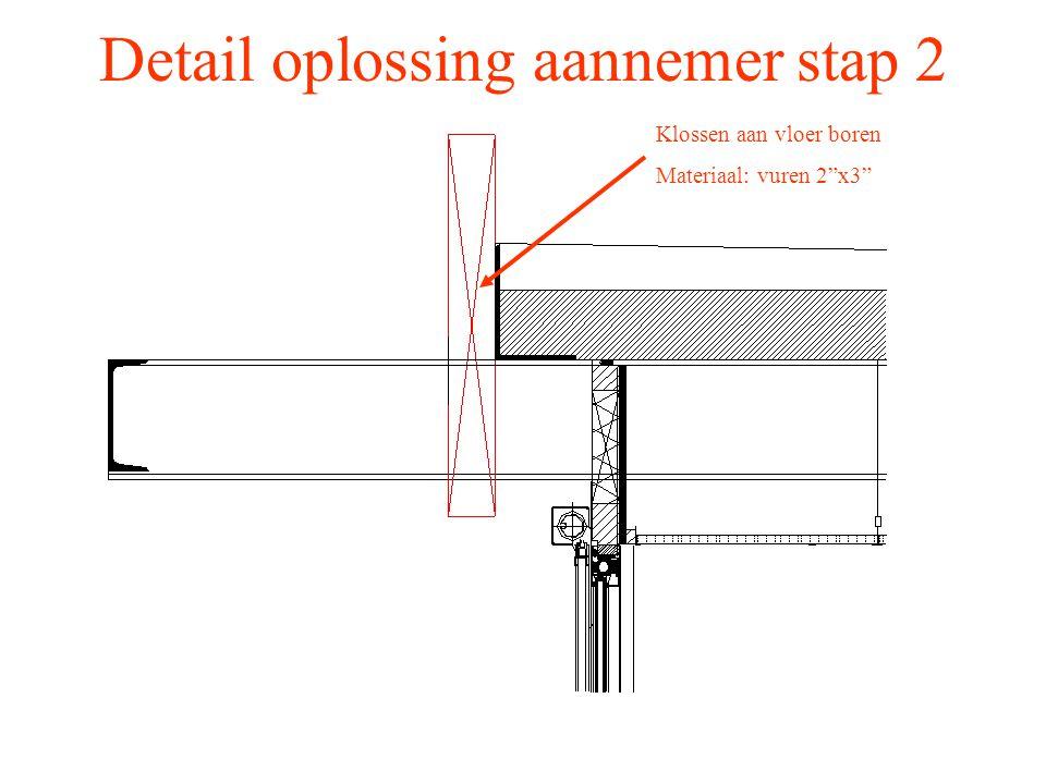 Detail oplossing aannemer stap 2
