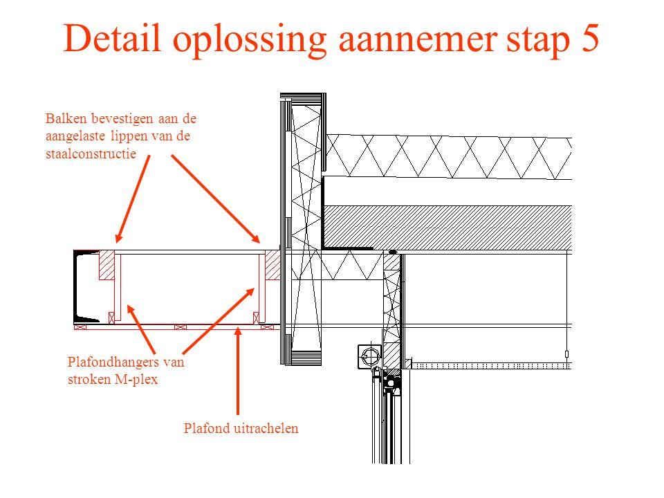 Detail oplossing aannemer stap 5