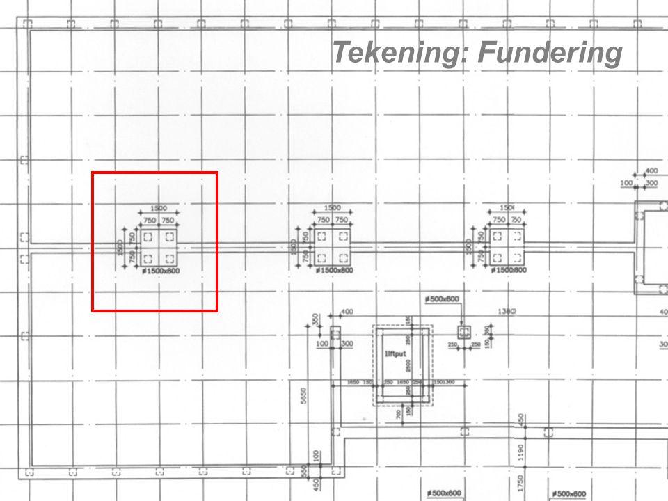 Tekening: Fundering