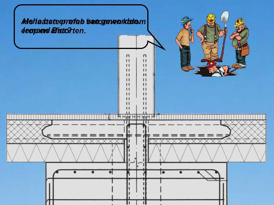 Als laatste prefab betonnen kolom