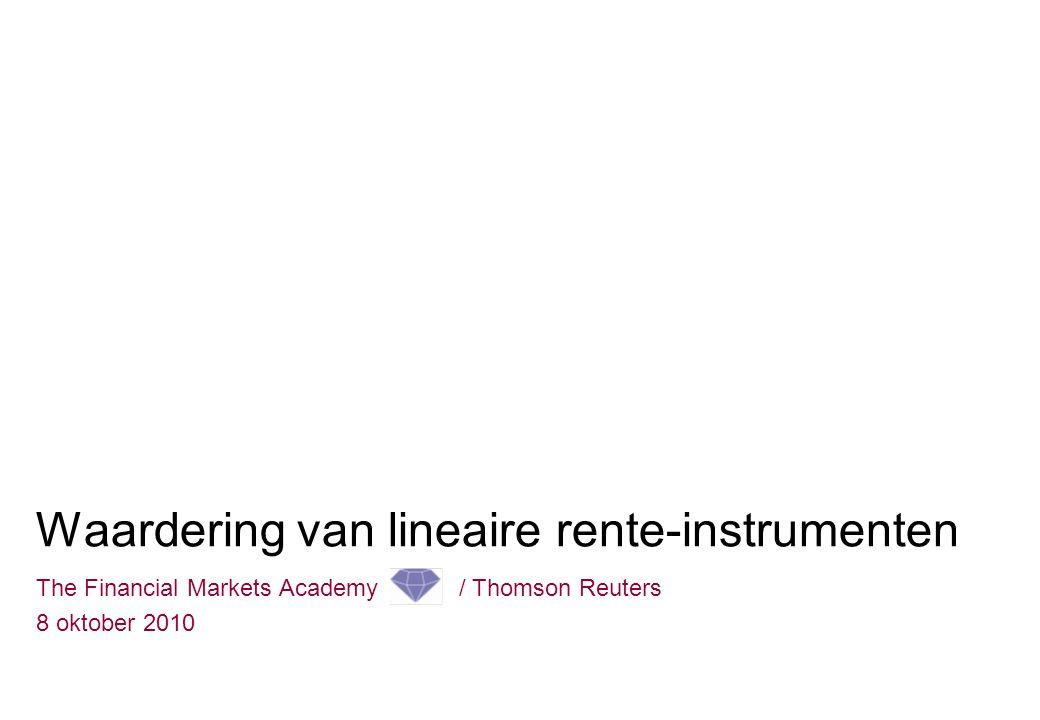 Waardering van lineaire rente-instrumenten