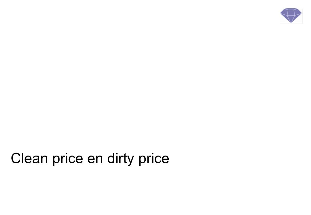 Clean price en dirty price
