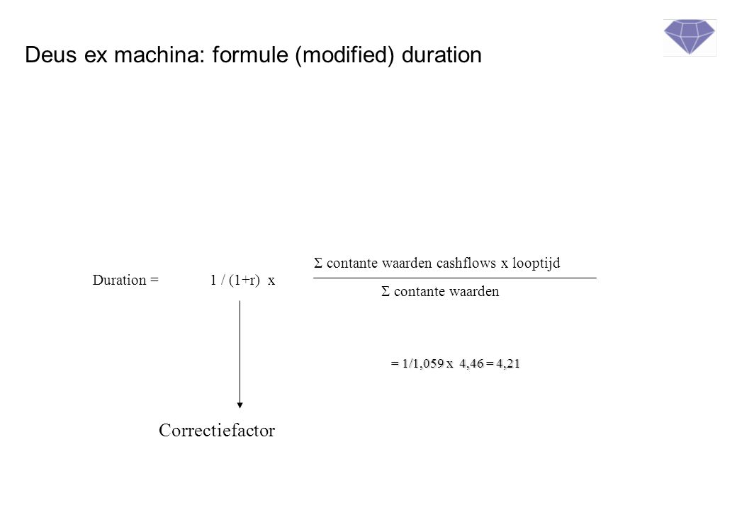 Deus ex machina: formule (modified) duration