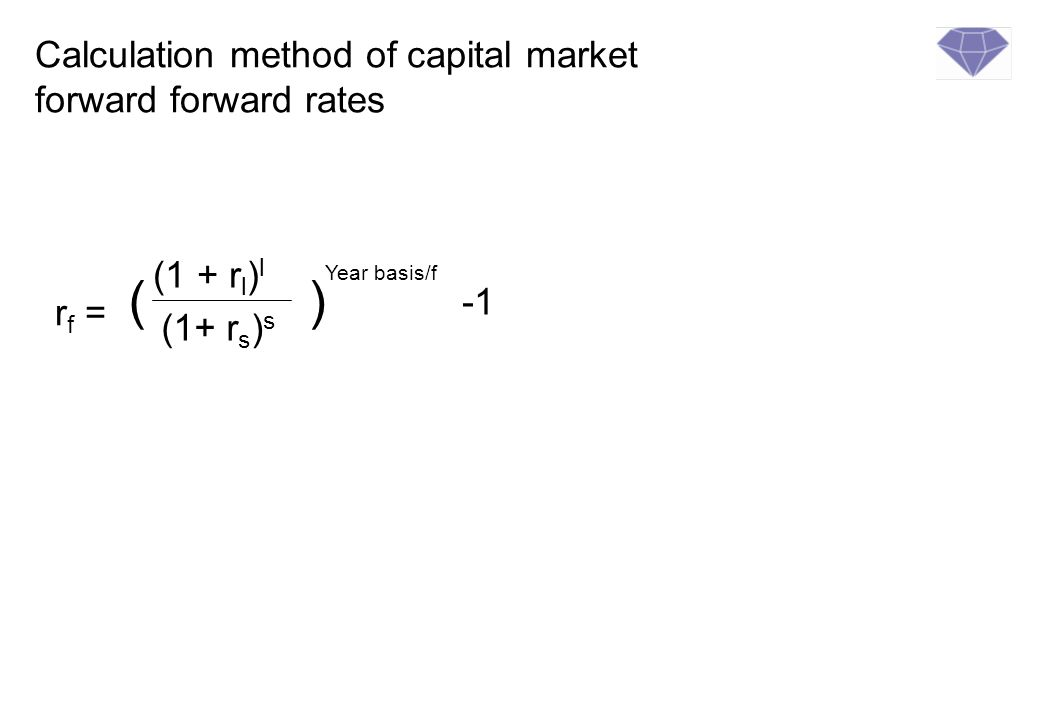 Calculation method of capital market forward forward rates