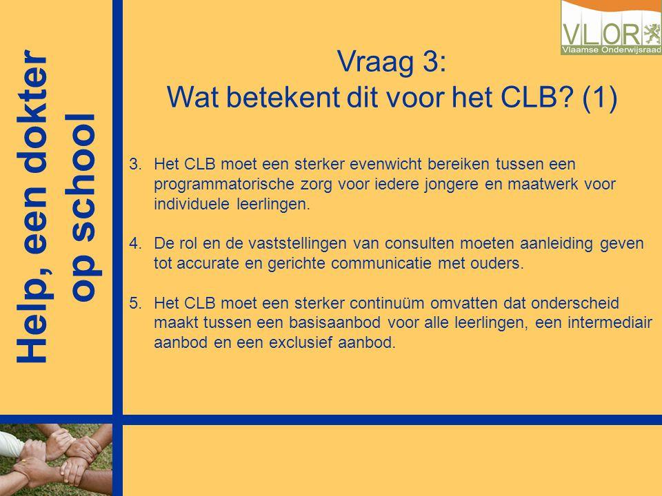 Vraag 3: Wat betekent dit voor het CLB (1)