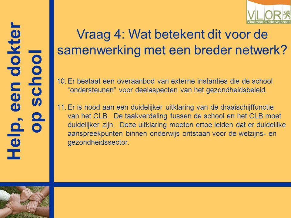 Vraag 4: Wat betekent dit voor de samenwerking met een breder netwerk