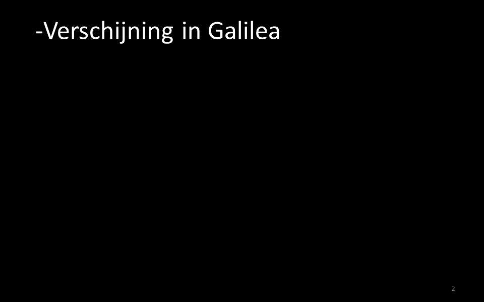 Verschijning in Galilea
