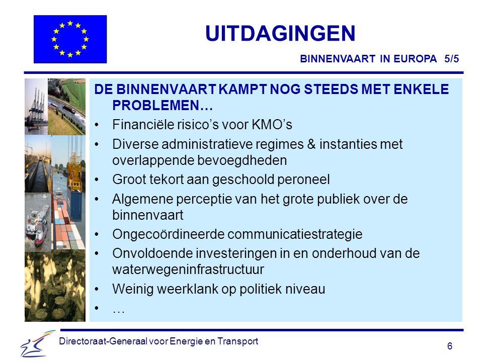 « NAIADES » Meer goederenvervoer over de binnenwateren van de EU WIE