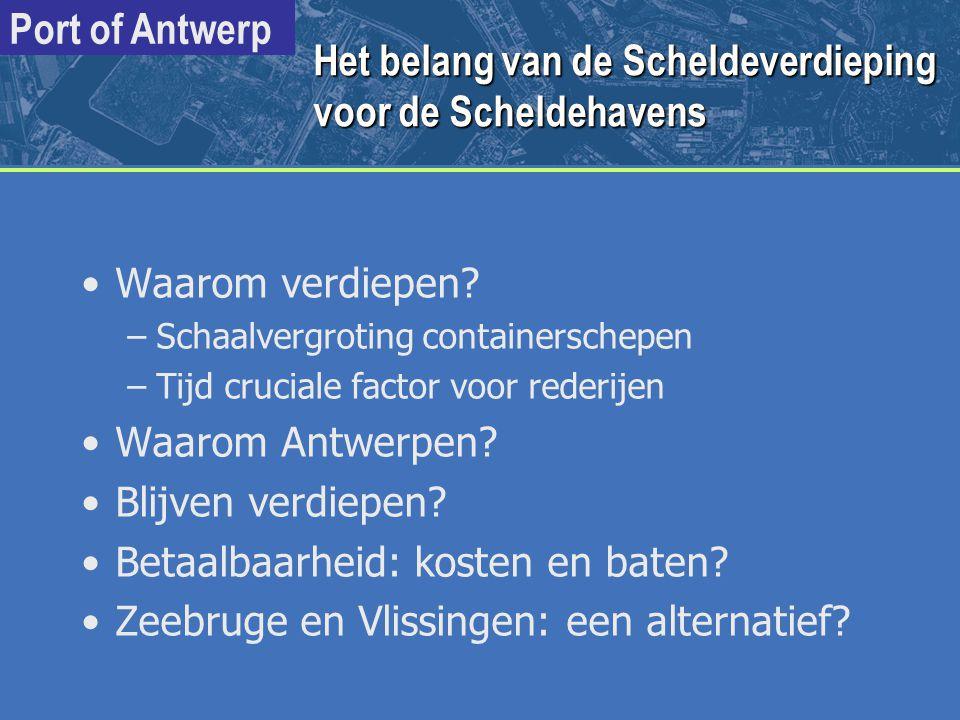 Het belang van de Scheldeverdieping voor de Scheldehavens