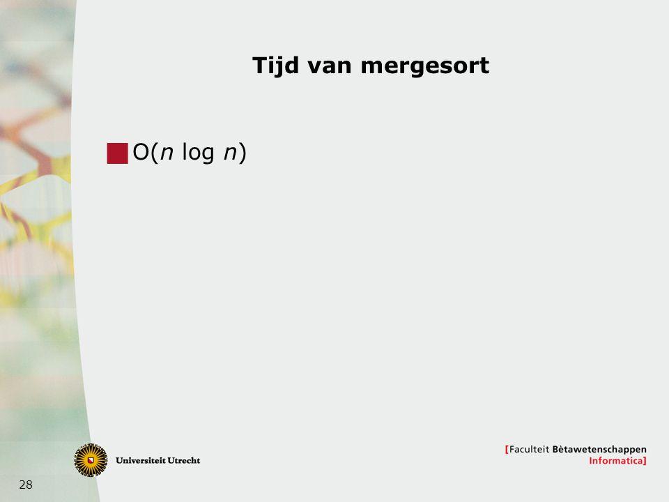 Tijd van mergesort O(n log n)
