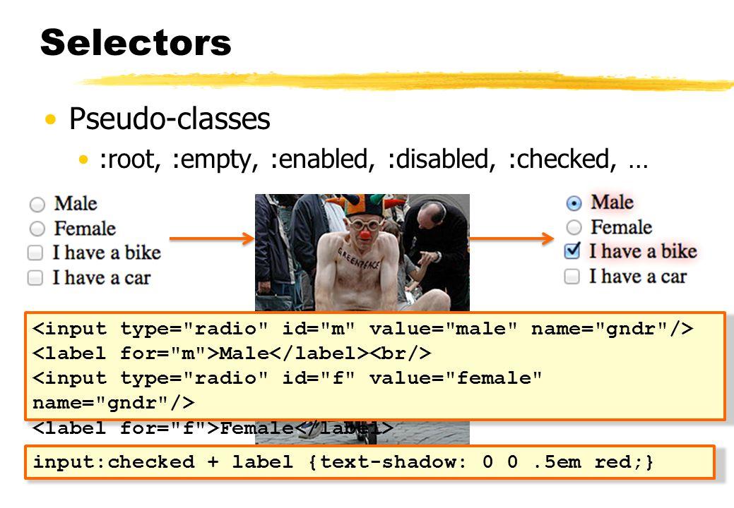 Selectors Pseudo-classes