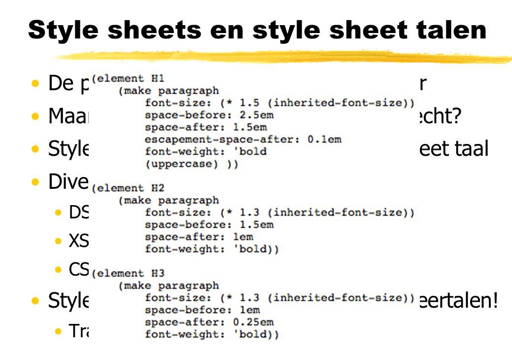Style sheets en style sheet talen