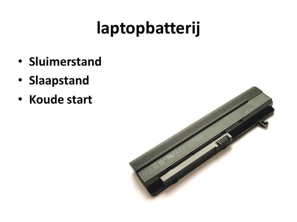 laptopbatterij Sluimerstand Slaapstand Koude start