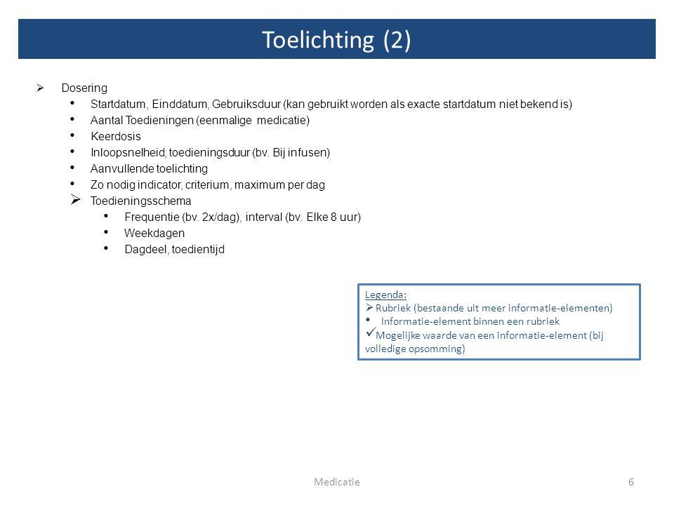 Toelichting (2) Dosering