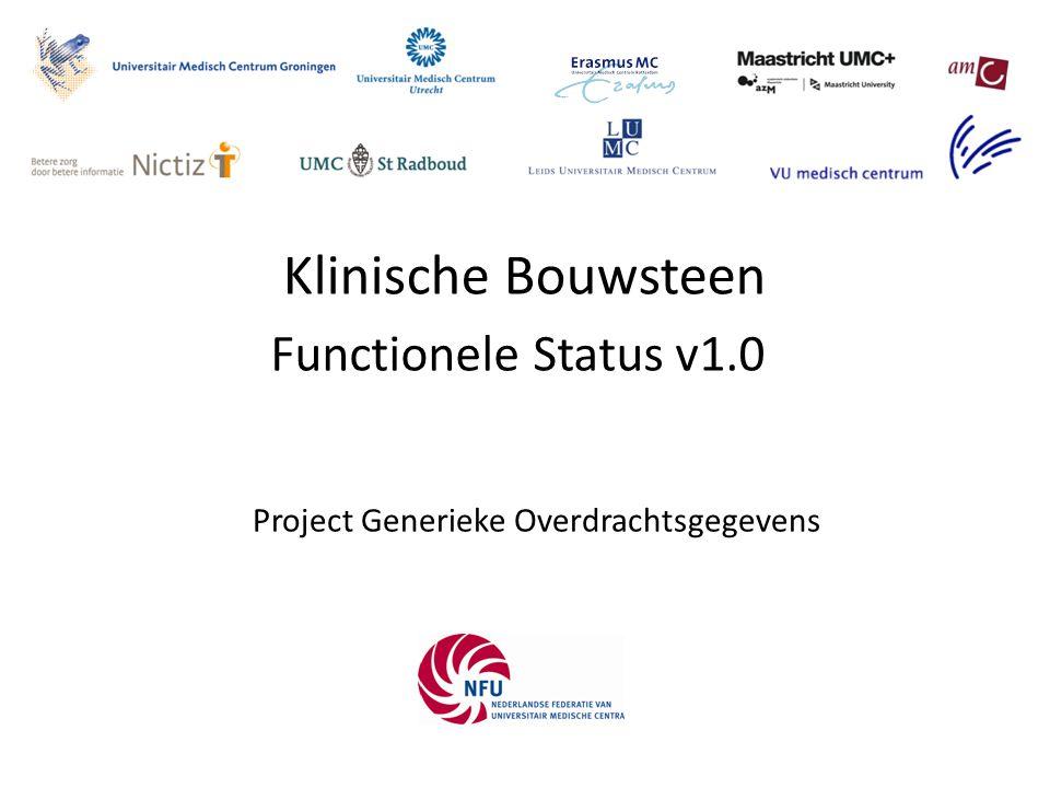 Functionele Status v1.0