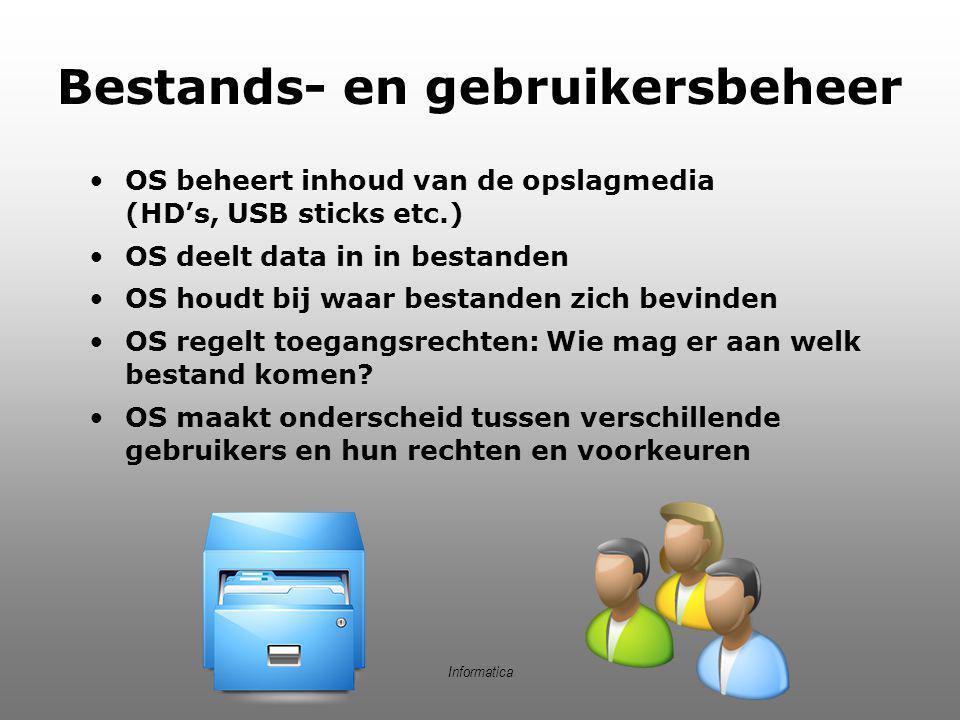 Bestands- en gebruikersbeheer