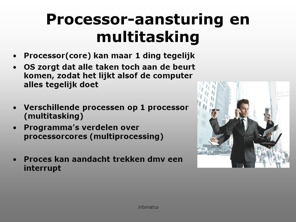 Processor-aansturing en multitasking