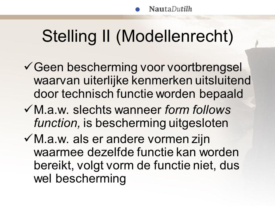Stelling II (Modellenrecht)