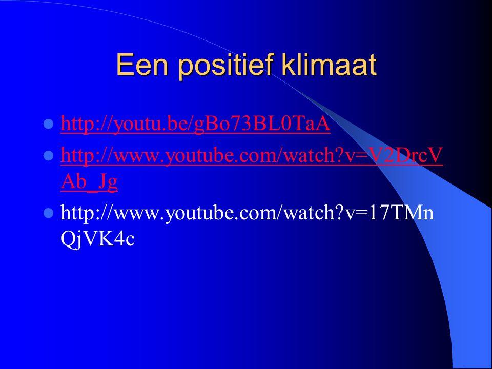 Een positief klimaat http://youtu.be/gBo73BL0TaA