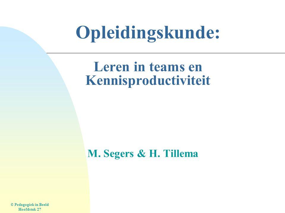 Opleidingskunde: Leren in teams en Kennisproductiviteit