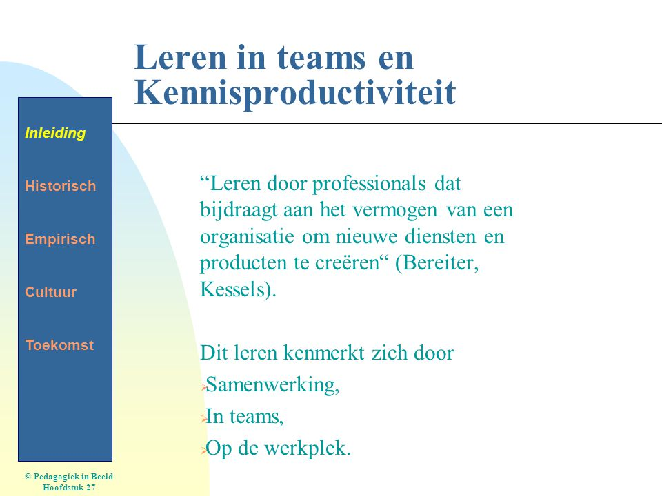 Leren in teams en Kennisproductiviteit