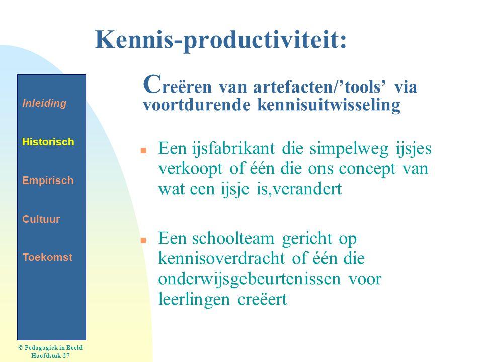 5-4-2017 Kennis-productiviteit: Creëren van artefacten/'tools' via voortdurende kennisuitwisseling.