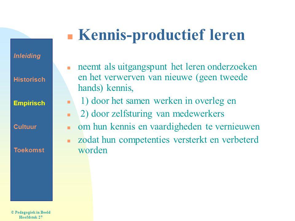 Kennis-productief leren
