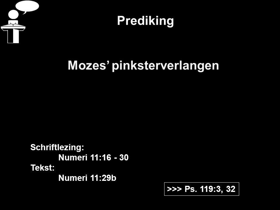 Mozes' pinksterverlangen