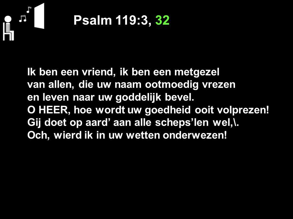 Psalm 119:3, 32 Ik ben een vriend, ik ben een metgezel