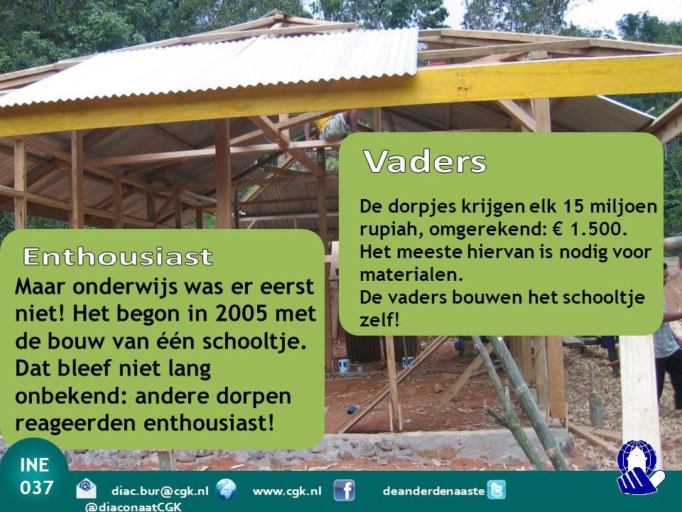 Vaders De dorpjes krijgen elk 15 miljoen rupiah, omgerekend: € 1.500.