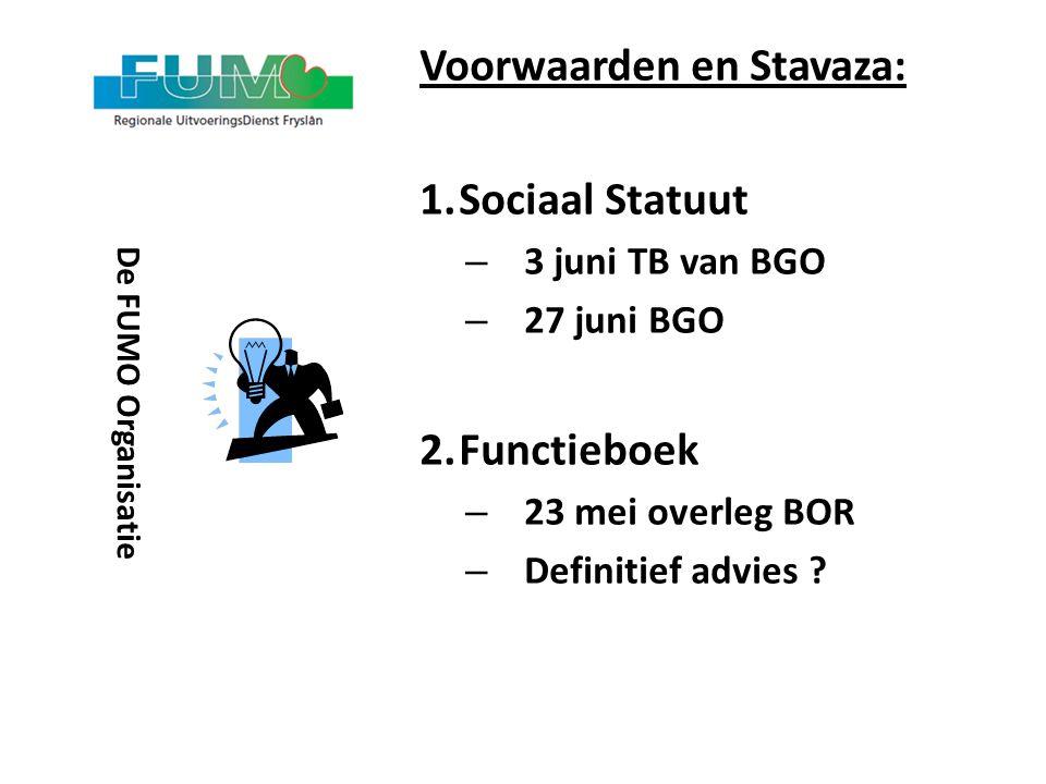 Voorwaarden en Stavaza: Sociaal Statuut