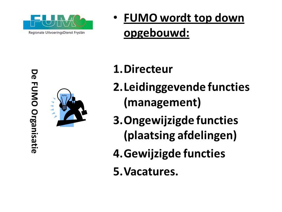 FUMO wordt top down opgebouwd: