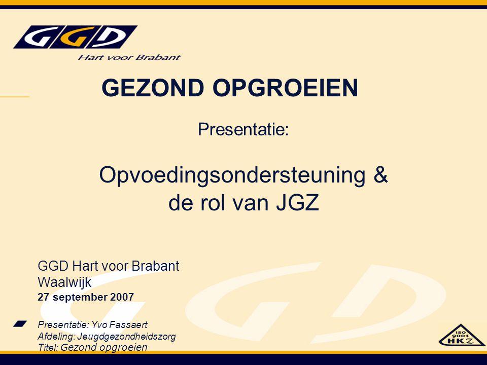 Opvoedingsondersteuning & de rol van JGZ