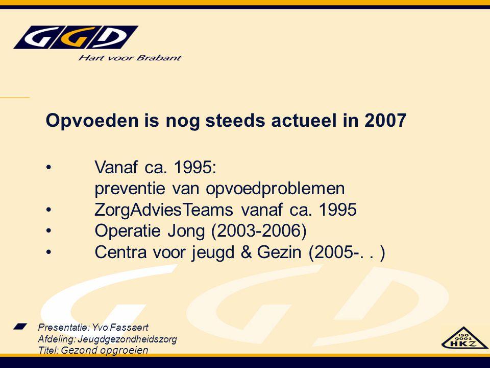 Opvoeden is nog steeds actueel in 2007