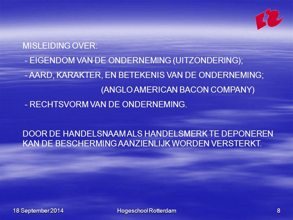 - EIGENDOM VAN DE ONDERNEMING (UITZONDERING);