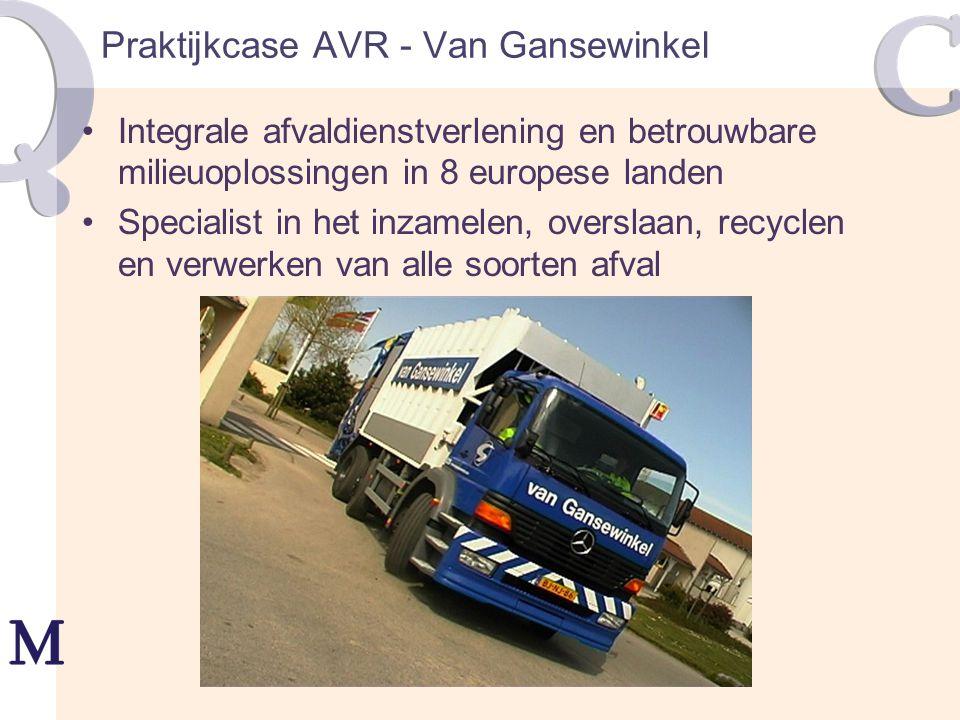 Praktijkcase AVR - Van Gansewinkel