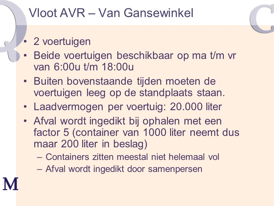 Vloot AVR – Van Gansewinkel