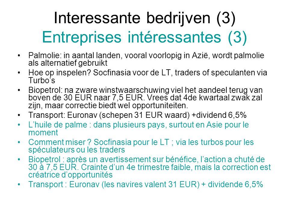 Interessante bedrijven (3) Entreprises intéressantes (3)