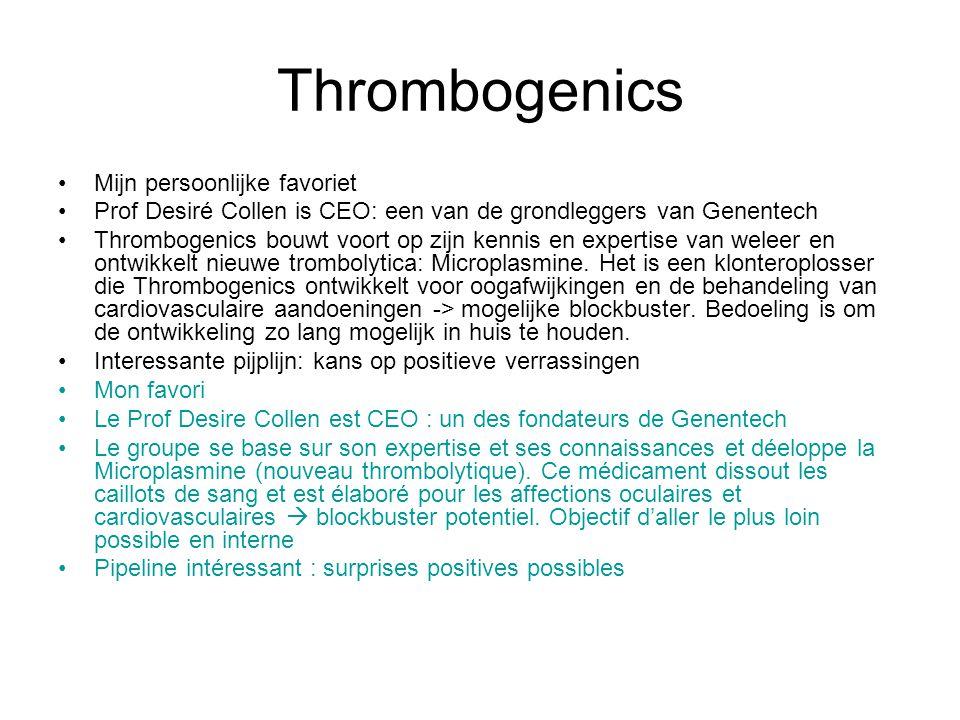 Thrombogenics Mijn persoonlijke favoriet
