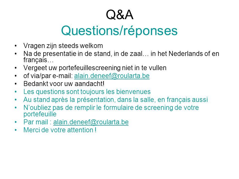 Q&A Questions/réponses