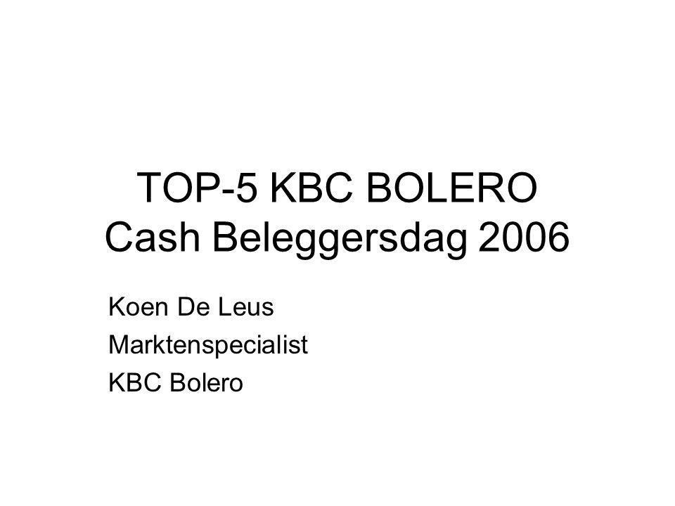 TOP-5 KBC BOLERO Cash Beleggersdag 2006