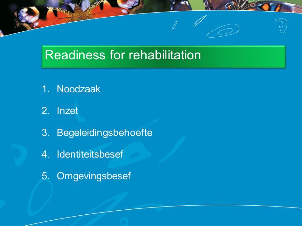 Readiness for rehabilitation