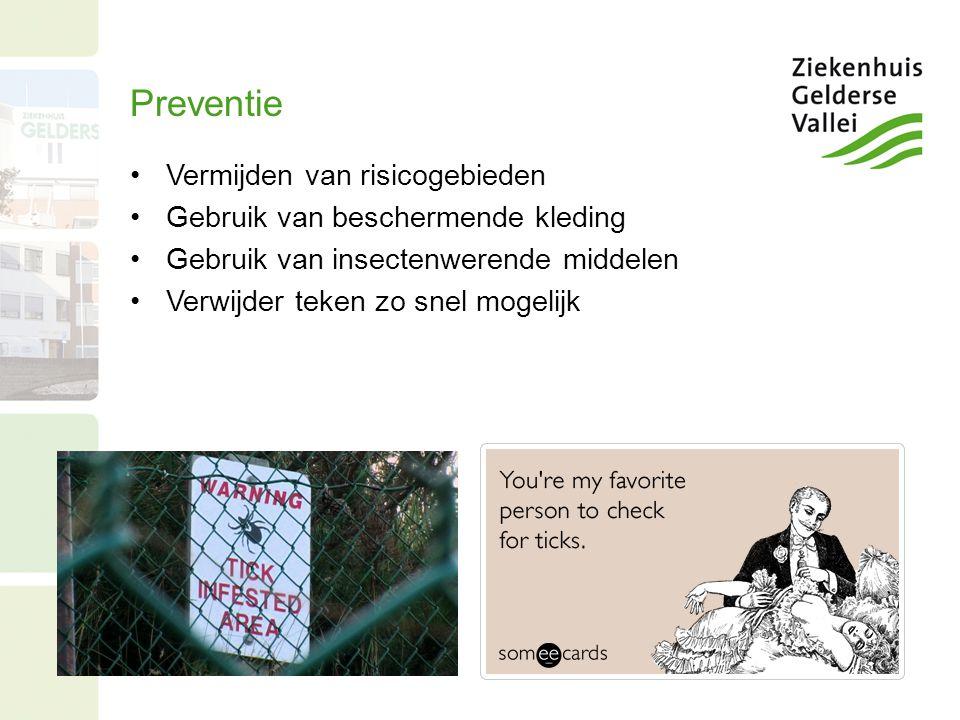Preventie Vermijden van risicogebieden