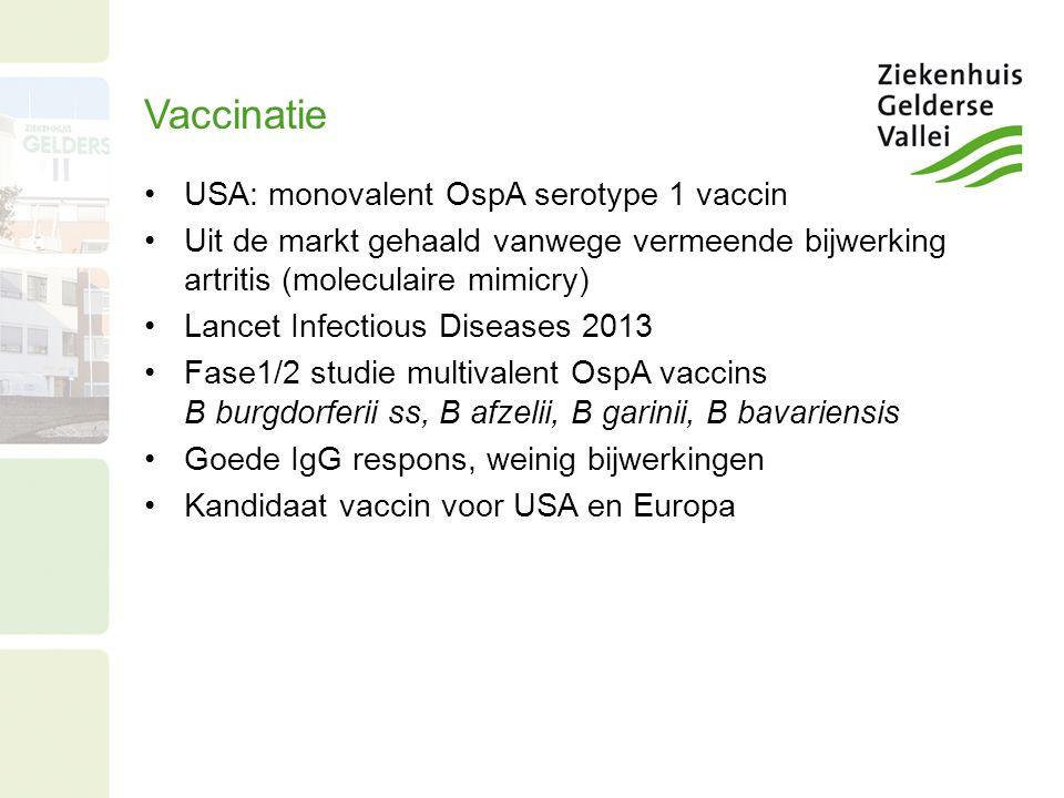 Vaccinatie USA: monovalent OspA serotype 1 vaccin