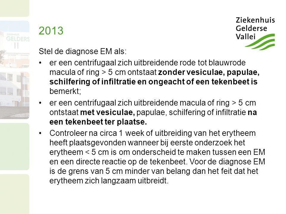 2013 Stel de diagnose EM als: