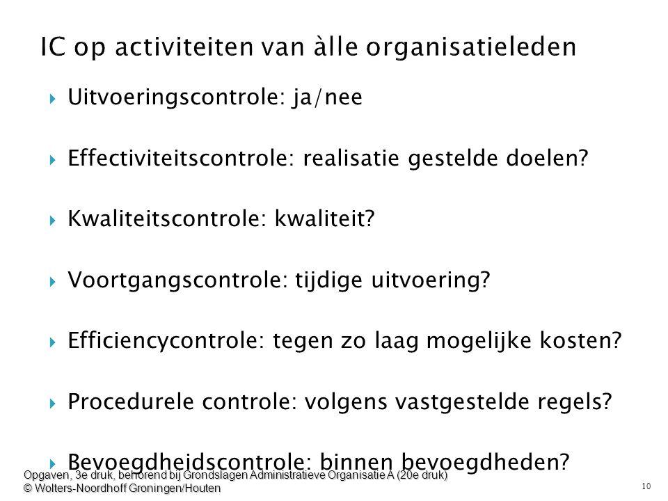 IC op activiteiten van àlle organisatieleden